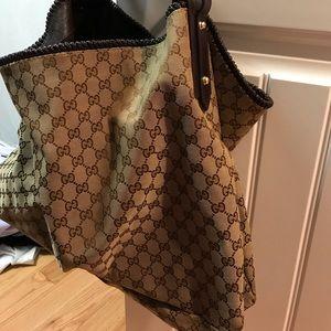 Gucci Horesbit GG Canvas Large Hobo Shoulder Bag